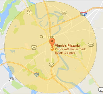 Delivery area concord nh pizza